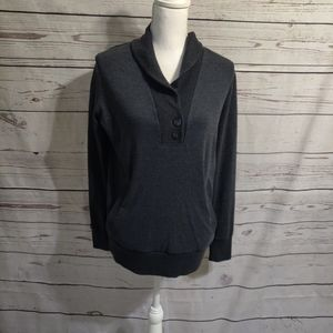 Banana Republic Gray Men's Long Sleeve Pull Over